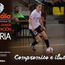Nuria sigue con nosotros en el equipo de segunda división de Fútbol Sala Femenino