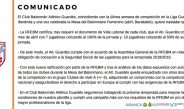 COMUNICADO Club Bm. Atlético Guardés
