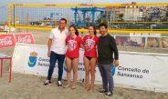 Prata en Volei Praia U15. Candela Fdez e Sara Fdez