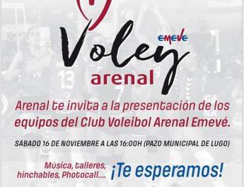 Invitación:  Nas tendas Arenal para a presentación e partidos Sábado 16 Novembro.