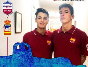 Selección española Sub-20. Pablo Villar e Anier Mariño