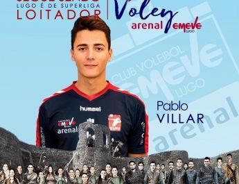 O colocador lucense, Pablo Villar segue no Arenal Emevé.