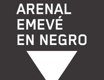 Arenal Emevé contra a violencia. Lugo en negro